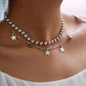 Jewelry - 💫🌟DAINTY RHINESTONE & STAR NECKLACE💫🌟